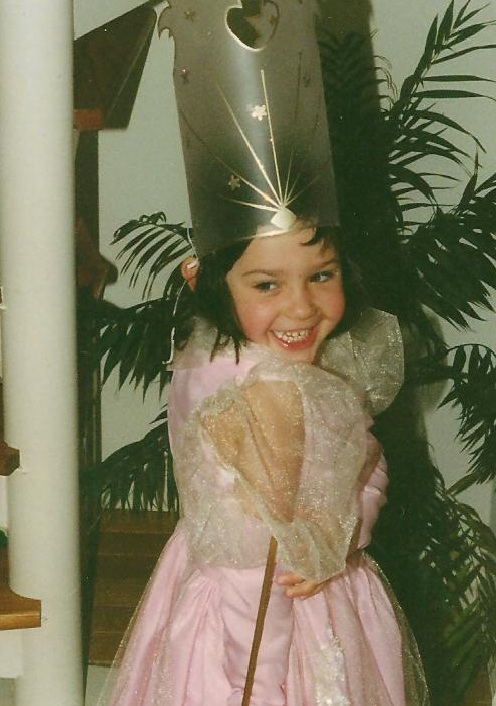 Catherine's princess costume, courtesy of Grandma and Grandpa. Age 4.