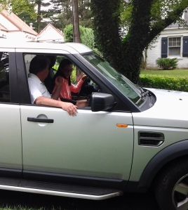 """From August. I didn't dare try to snap a photo as she drove off for her first """"real"""" lesson."""