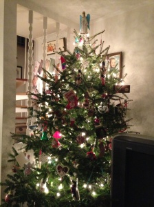 "Our 2012 tree. When I was little, I apparently called one of these ""the Mister P."""