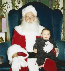 Sixteen years ago, we took Catherine to visit this very anemic Santa at the mall. The shutter caught her expression just before the tears started. ...