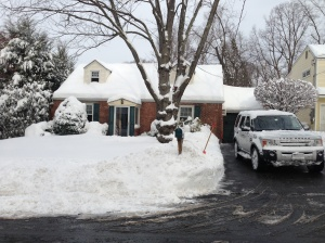 The snow is nearly gone, but apparently our house remains its curb appeal without the white stuff.