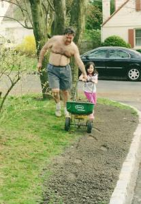 Basil and Catherine, May 2002. Now she only does yard work under protest.