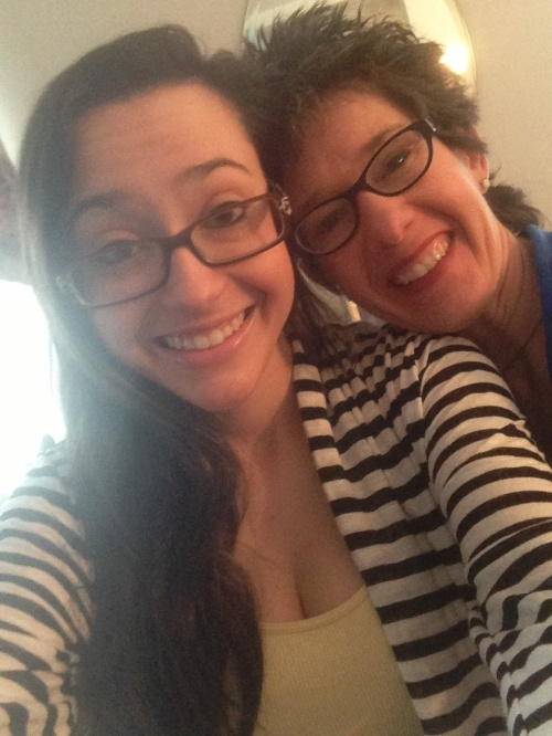 Catherine and me. She's my pride and joy ... and occasionally acknowledges me in public.