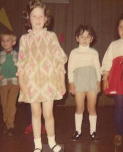 May 17, 1972. Wish the photo was clearer. I remember loving that fancy dress, the hairdo was no doubt the result of sleeping on a head full of curlers.