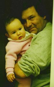 Catherine and Basil, May 1997. Love, love, love this photo of them. The pride and love on Basil's face, Catherine's chunky-monkey cheeks and hands. I could eat them both up!