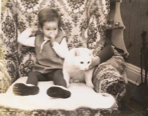 Me and Squeaky, not sure what year; going to guess 1967.