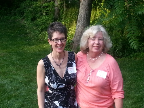 Still getting to know each other: Me and my first mother, Pat, last summer. Still can't believe I was able to find her.