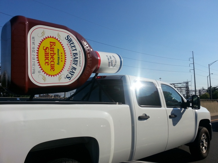 Leave it to Basil -- the Condiment King -- to discover this on I-95 South in Norwalk.