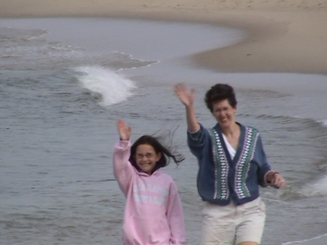 Catherine and me. Chatham, MA, 2004.