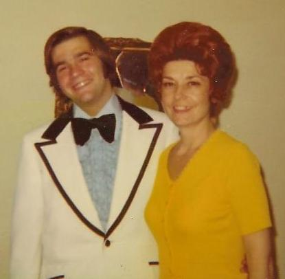Basil, with his mom, Dena, the night of his senior prom in 1973. I'm not sure what I like more: the sideburns, the unfortunate choice of tux or the frilly shirt underneath it!