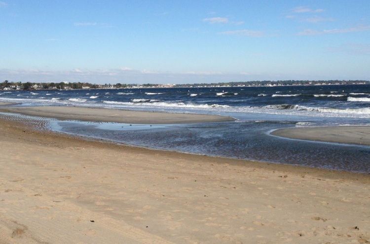 Last weekend's wind whips up the usually placid stretch of Long Island Sound here in Greenwich, CT.