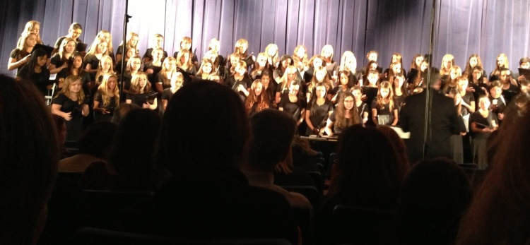 Part of the Concert Choir, one of the five Greenwich High choruses that performed last night.