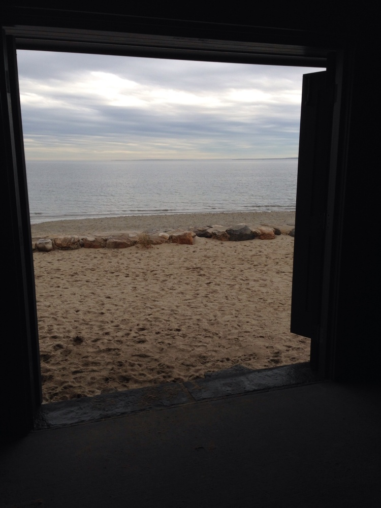 View from inside Innis Arden Cottage, Tod's Point.