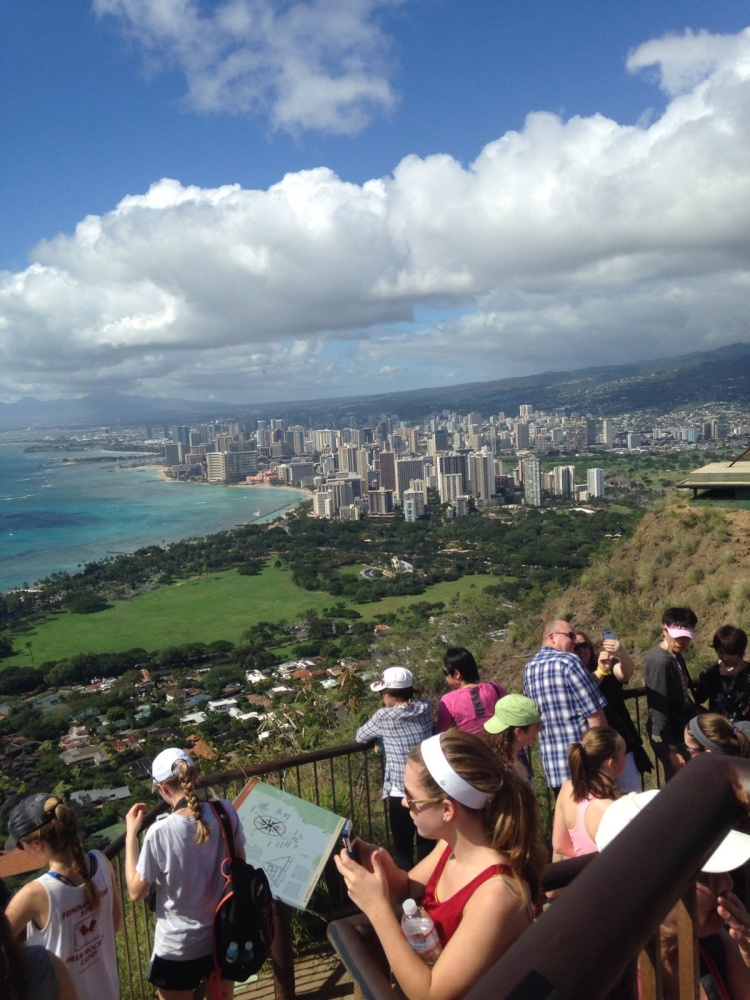 Atop Diamondhead.