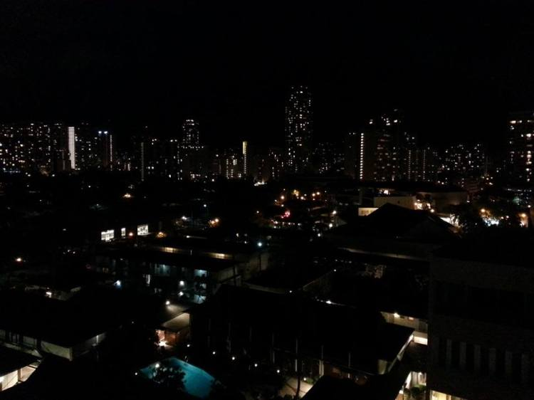 Honolulu after dark.
