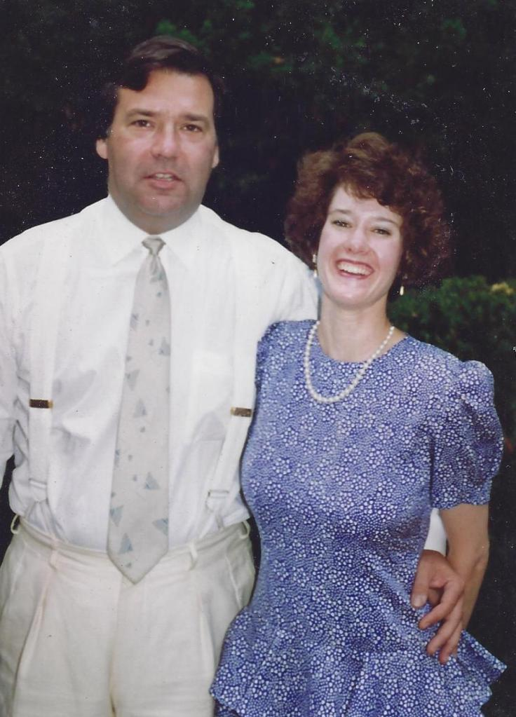 Heading off to see a friend get hitched, August 1992.