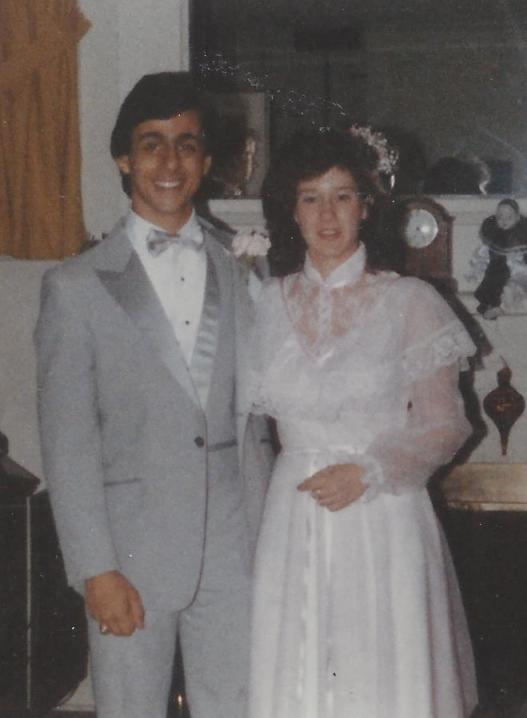 Carl and me, headed to his prom at Stepinac in 1984. A few weeks later, we did it again -- me in a different dress -- for my Port Chester High prom.