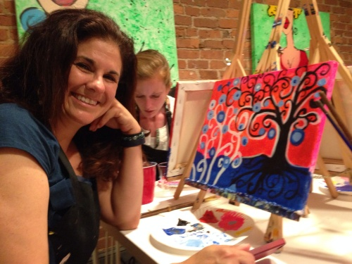 Kristen and her masterpiece -- both quite lovely, don't you think?