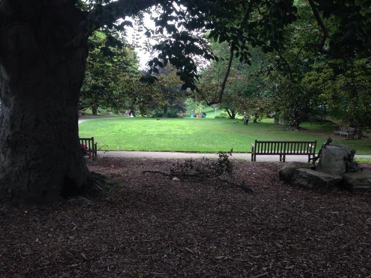 Pocket Park, Greenwich Avenue in Greenwich, last Sunday.