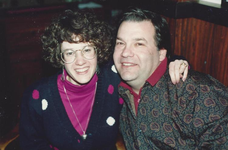 For those who know me for the close-cropped, ever-graying 'do, yes, I did have hair  at one time. (I also still own that turtleneck; might be time to let it go!)