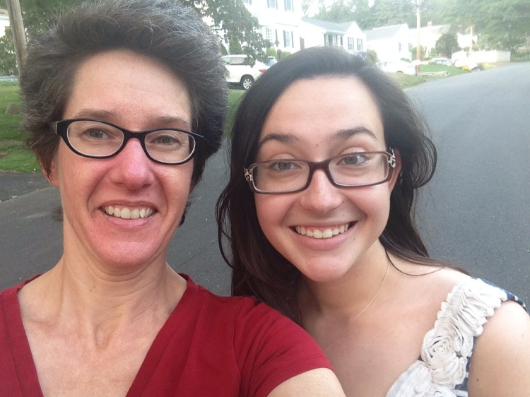 A post-dinner walk around the neighborhood demands a selfie, yes?