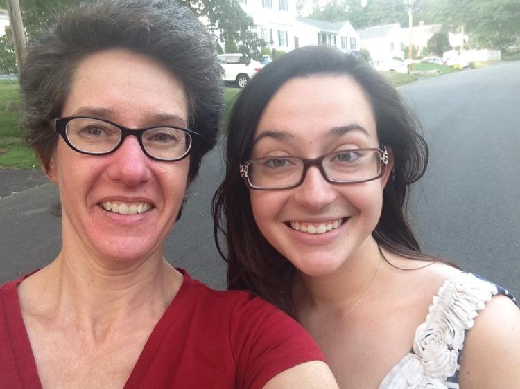 A post-dinner walk around the neighborhood demands a selfie, yes?