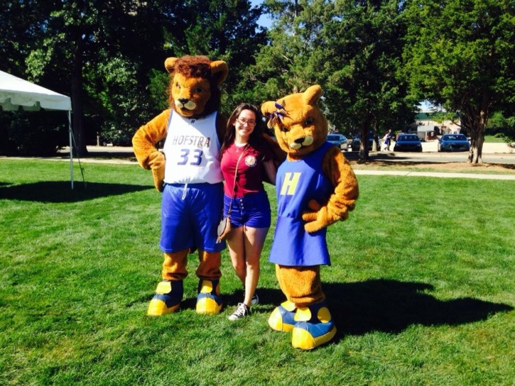 "Full of ""pride,"" kicking off freshman year at Hofstra U."