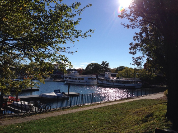 October Sunday at the Arch Street dock, Greenwich, CT.