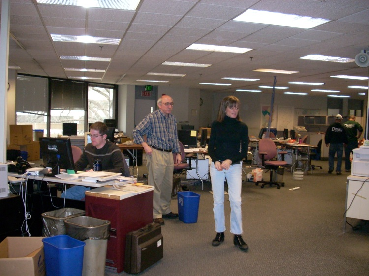 Editor Joe Pisani and his administrative assistant, Susie. They don't work at the paper anymore either.