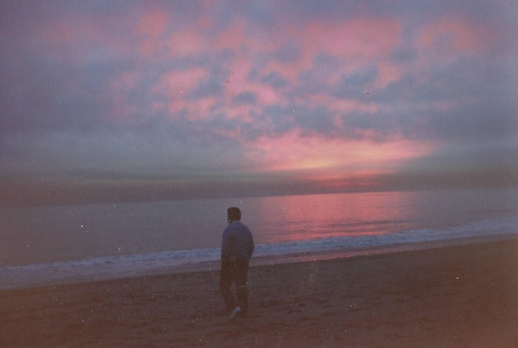 Basil on the beach in California in 1988.  I wasn't smart enough to note WHERE we were when I took this shot.
