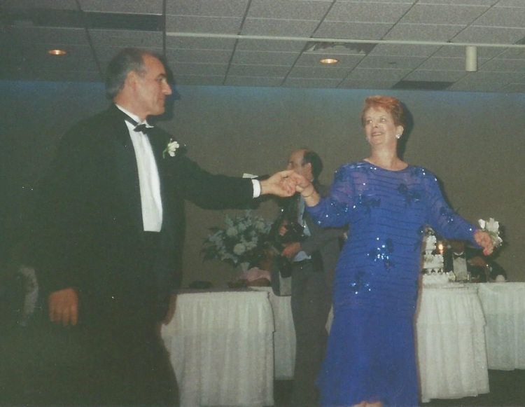 Dancing at our wedding.