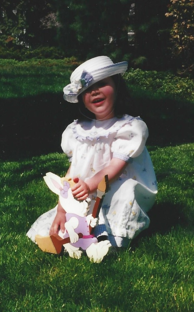 Catherine, age 4. I'm a sucker for a girl who wears her hat at a rakish angle.