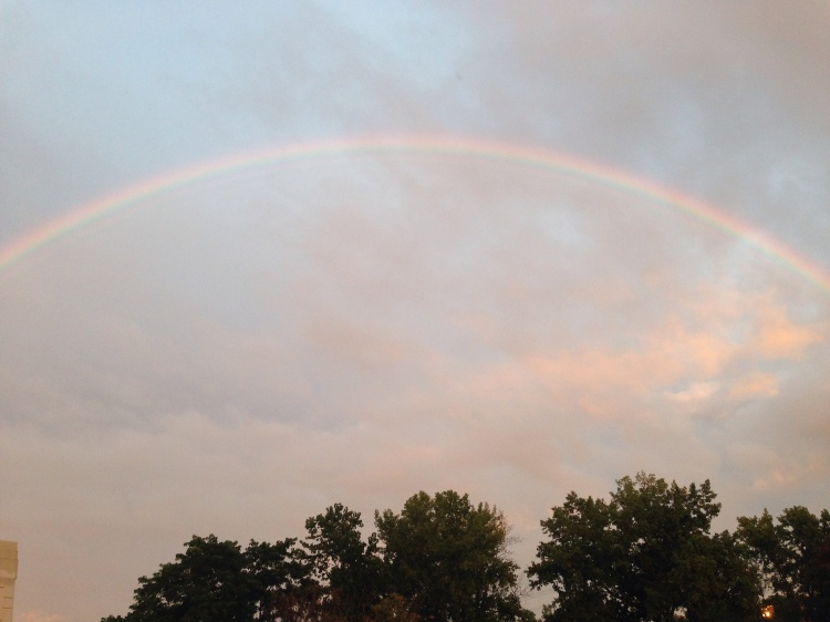 Late Sunday rainbow, Port Chester, NY.