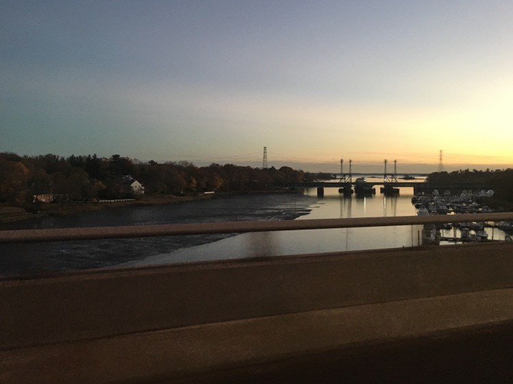 Long Island Sound from the Mianus River Bridge, Greenwich, CT